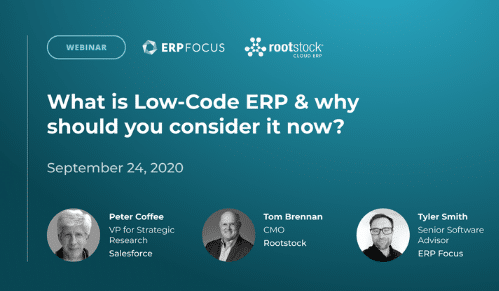What is Low-Code ERP & why should you consider it now?